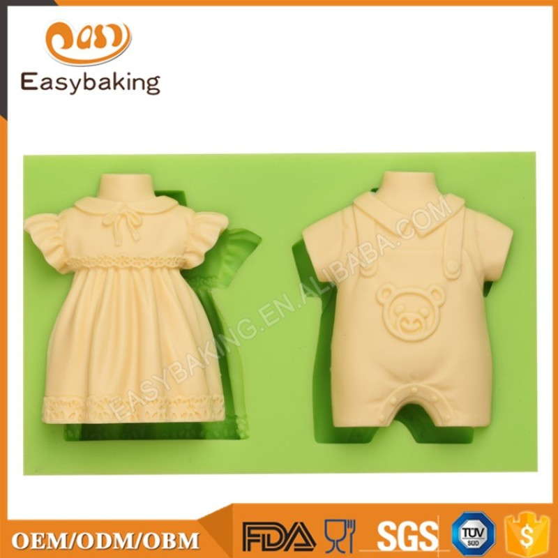Girl's and boy's clothes shape Moulding Silicone for Fondant or Crafts