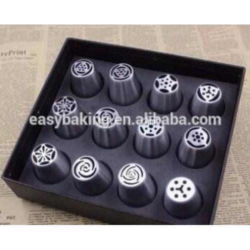 Different flower shape russian piping tip cupcake decorating nozzles