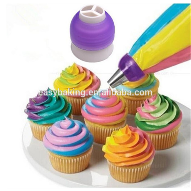 Pastry cream cake baking adapter round cut tool nozzle pipe coupler converter