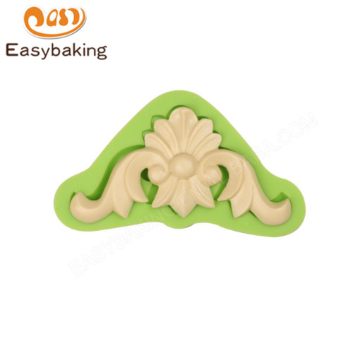 Best selling scroll silicone cake decorating molds fondant cake tools
