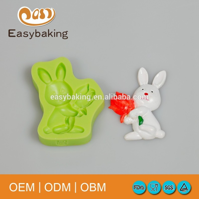 Wholesale promotional products rabbit shaped different shape silicone baking molds
