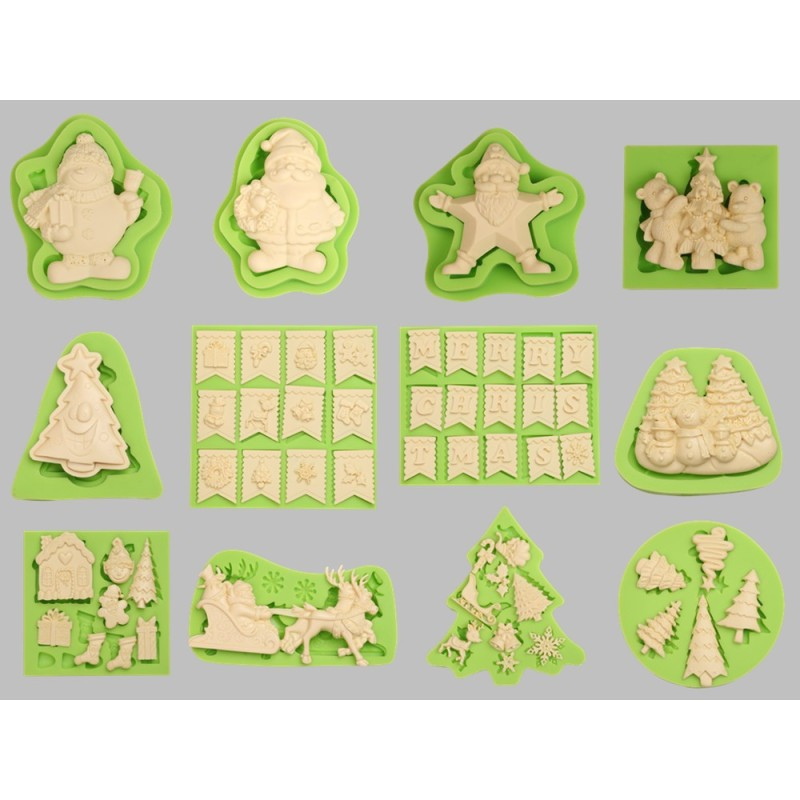 Polymer Clay Halloween Theme Cross Shape Silicone Mould