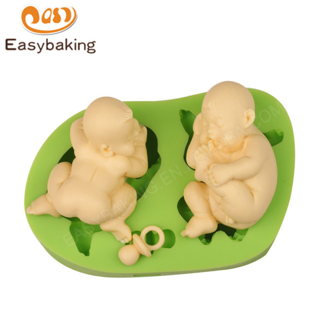High Quality 2 pcs baby silicone sugarcraft mould