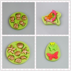 BABY BOY Series 3D Round Silicone Baby Molds Fondant
