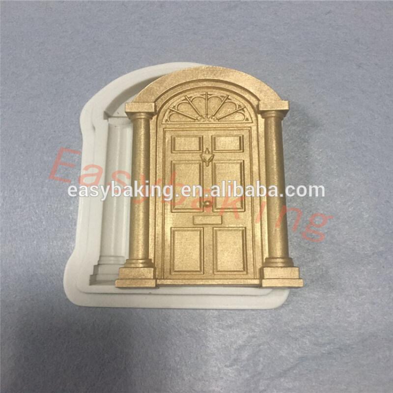 2017 New Wedding Cake Decoration Building Door Silicone Mold