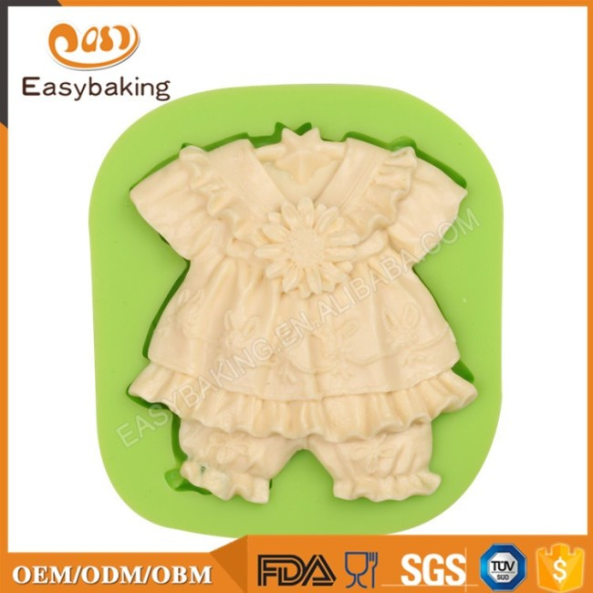 Baby girl dress with flower Chocolate Mould Silicon Supplies Online