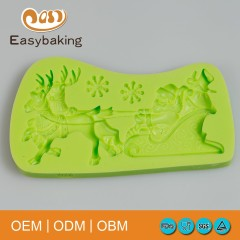 Christmas Santa Claus Silicone Chocolate Mold For Cake Decorating