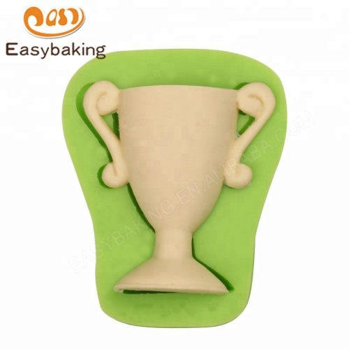 Silicone Moulds 3D Champion Trophy Shape for Cake Decorating