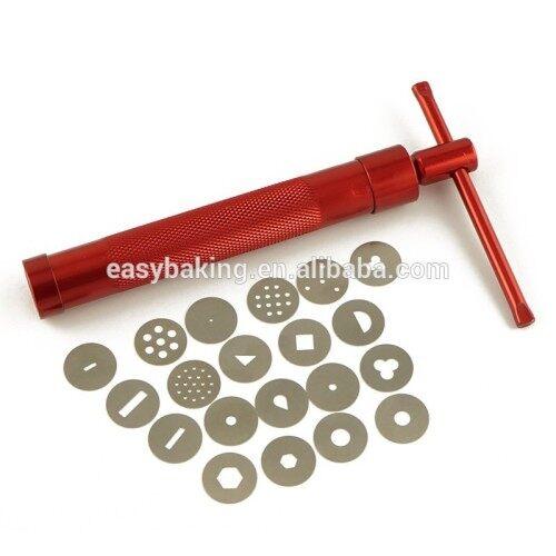 20 Dischi Decorativi Sugarcraft Gun for Fondant Clay Fimo Extruder