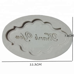 Cupcake Decorating Tools Thank You Letters Silicone Chocolate Mold