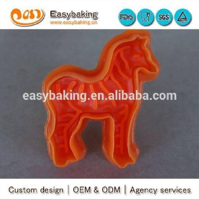 Wholesale Custom Made Plastic Cookie Tool Zebra Stamp Cutter