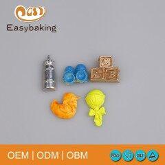 Multi Shapes Baby Shoes Duck Bottle Toys Cake Decorating Silicone Sugarpaste Mould