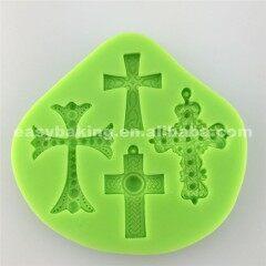 Olde Worlde Custom Halloween Decoration 4 Cavities Cross Silicone Mold