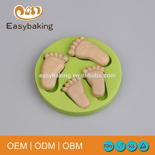 Big & Little Feet Celebrate A Birthday Silicone Cake Decorating Baking Molds