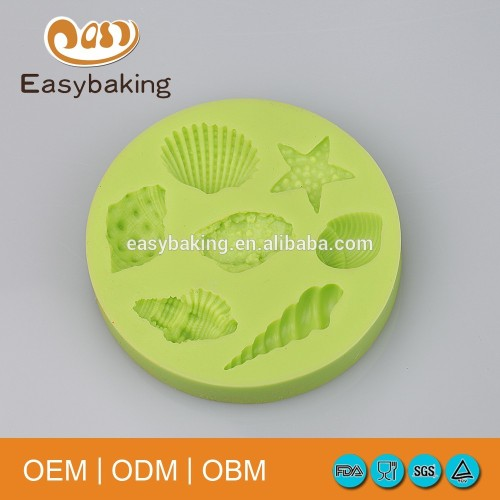Cake decorating tools different shaped silicone shell mold