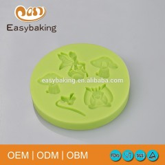 Funny Type Dragonfly Angel Mushroom Flower Muffin Silicone Cup Cake Molds