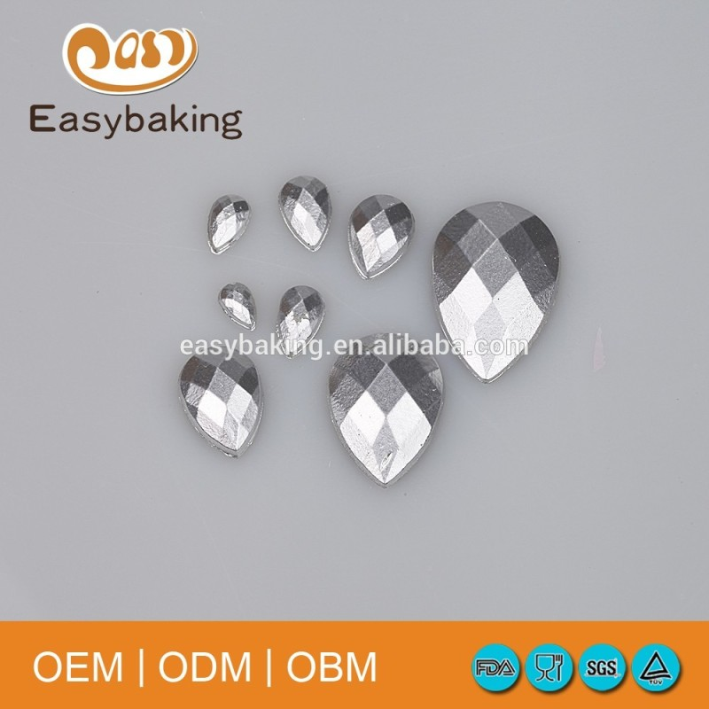 Porous Drops Of Water Shaped Diamond Jewelry Clothing Cake Decoration Silicone Candy Mould
