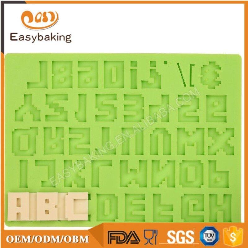 Alphabet Letter Punctuation Silicone Molds for Fondant