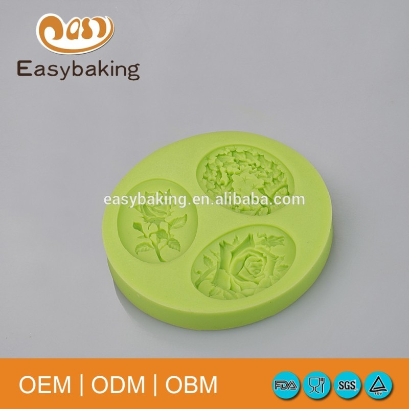 Rose Bows Silicone Fondant Molds For Cake Decorate Candy Soap Clay Resin Craft