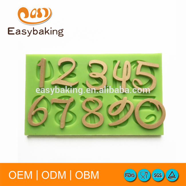 Number/Letter baking tool cake mould silicone fondant mould
