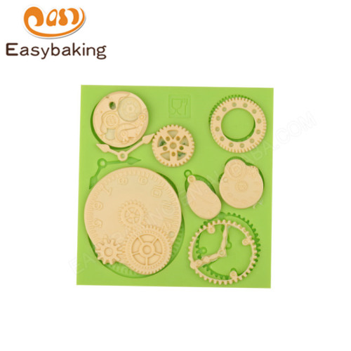 Gear shape fondant decoration silicone mould