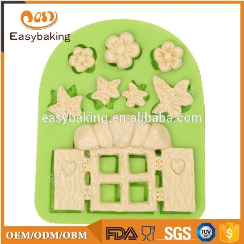 Adorable Window Shape Silicone Cake Mold for Fondant Cake