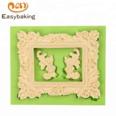 Ornate Scroll Embellishment Victorian Large Picture Frame Silicone Mold