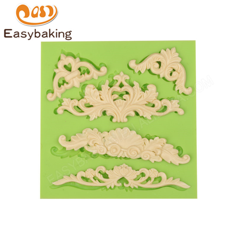 Hot sale Flourish Swirl Centrepiece cake mold silicone cake mold silicone cake decoration mold
