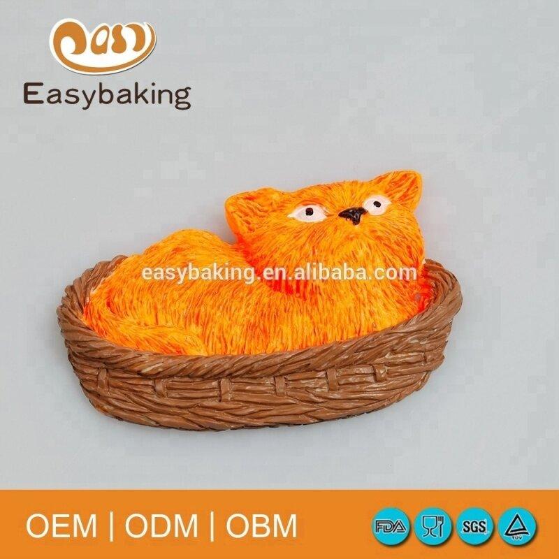 Animal cat shape artware cartoon silicone cake mould
