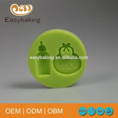 Cheap Infant Series Bottle Baby Bib Handicraft Candy Silicone Mold For Fondant Cake Decorating
