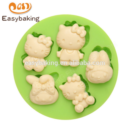 China Factory Supplier High Quality Novelty Funny Hello Kitty Silicone Molds