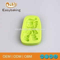 Standing Santa Clause Christmas Silicone Candy Mould For Cake Decorating