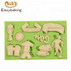 Soccer World Cup Football Silicone Mold Chocolate Cupcake Decorating Sugar Craft Baking Tools