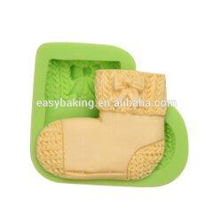 Custom baby series handmade Stocking Sock silicone soap molds
