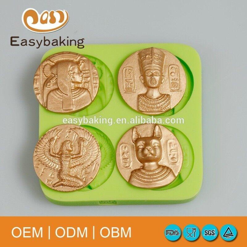 Egyptian Pharaoh cake decorating silicone mold for Fondant cake