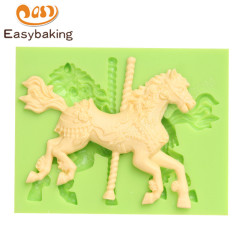 Toy horse design 3d silicone cake molds