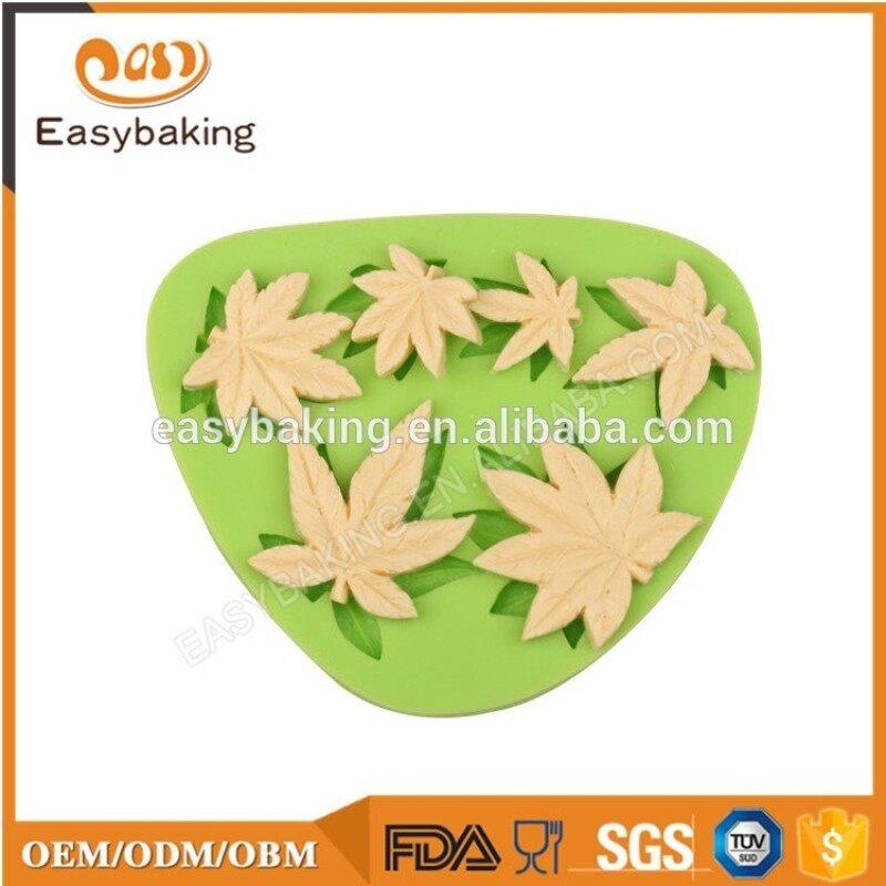 Amazon hot sale mushroom and sunflower silicone cake decoration mold