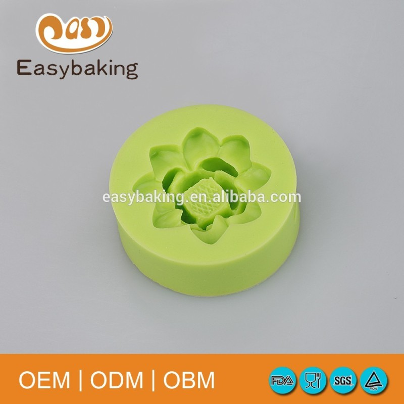 Polymer Clay Resin Fondant Flower Rose Cake Decorating Silicone Molds