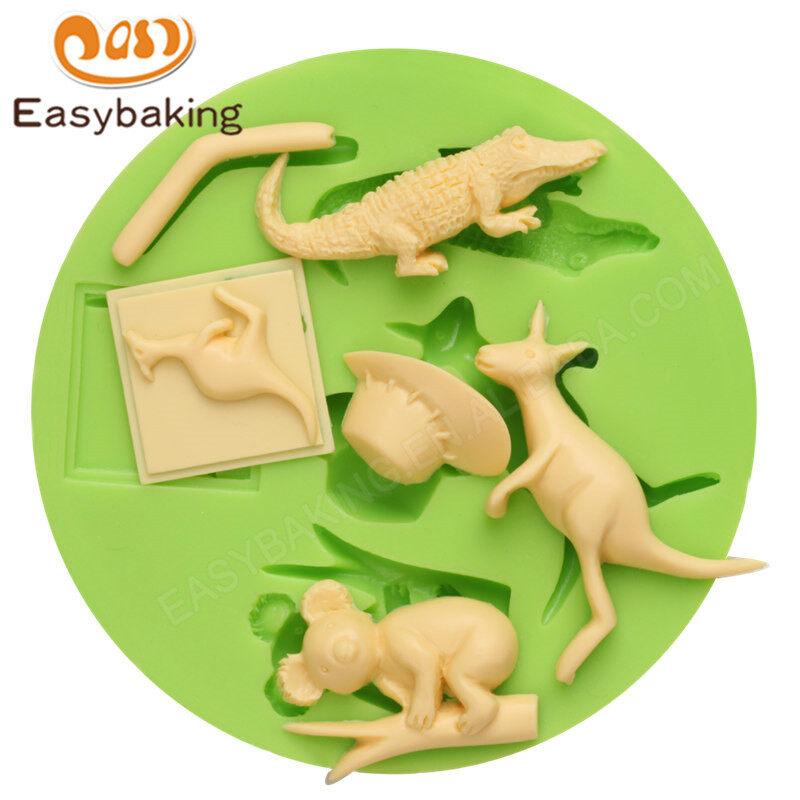 Custom Australian animals cake decoration silicone pastry fondant mold