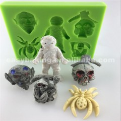 FDA LFGB Factory Directly Selling Human Skeleton Shaped Halloween Silicone Mold