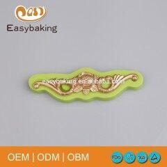 Factory Price Baroque European Flower Cake Border Silicone Fondant Molds