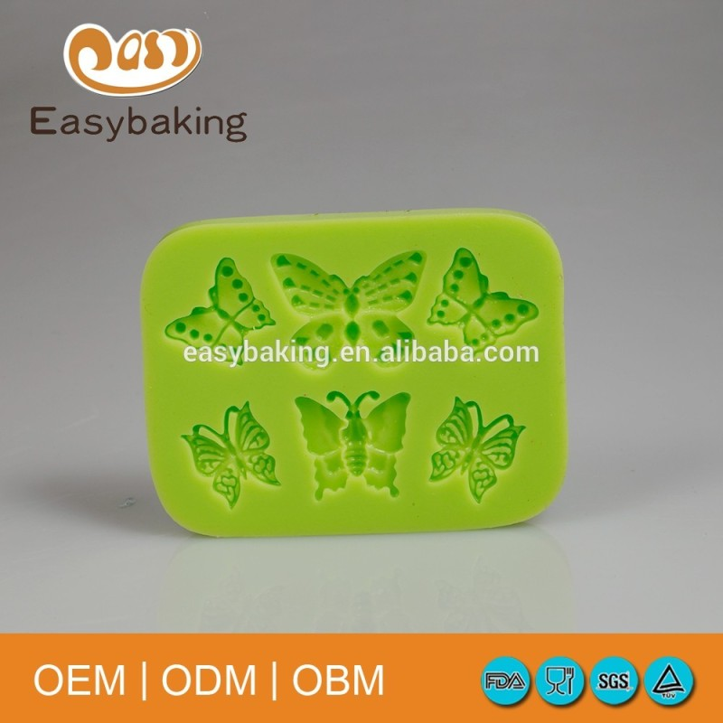 6 Cavity Pretty Butterflies Silicon Gypsum Mold Cake Decorating Tools