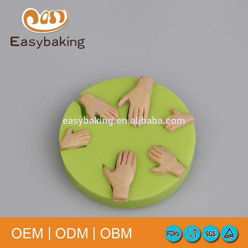 Whole Family 3 Pairs Of Hands Ornament Silicone Cake Decorating Baking Molds