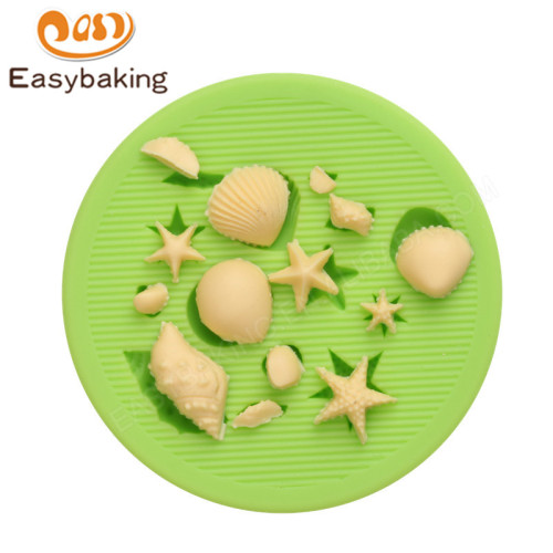 Ocean series starfish conch and seashell candy silicone molds