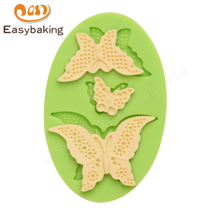 3D Butterfly silicone fondant cake  mould