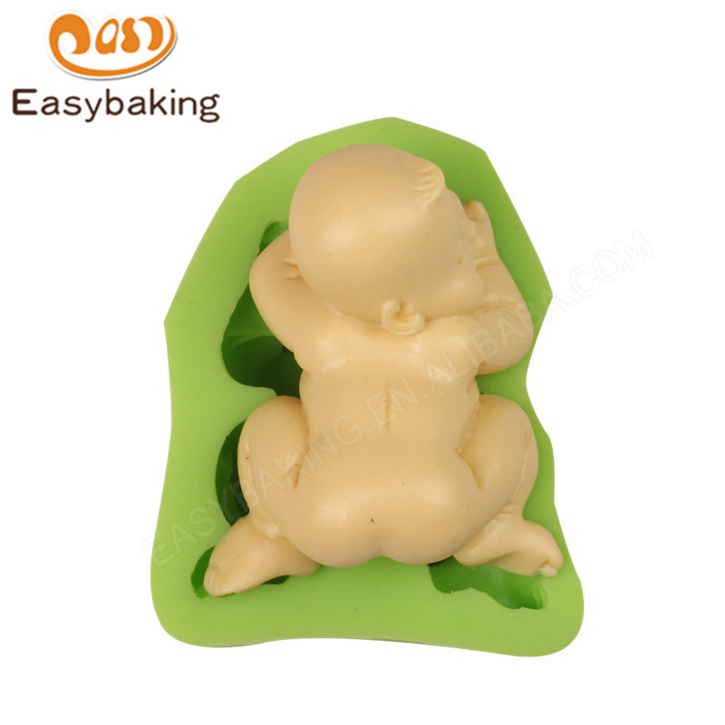 3D baby shape decoration silicone mould