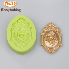 Classical ring pattern DIY baking biscuit mold 3D liquid silicone mold fondant cake chocolate mold