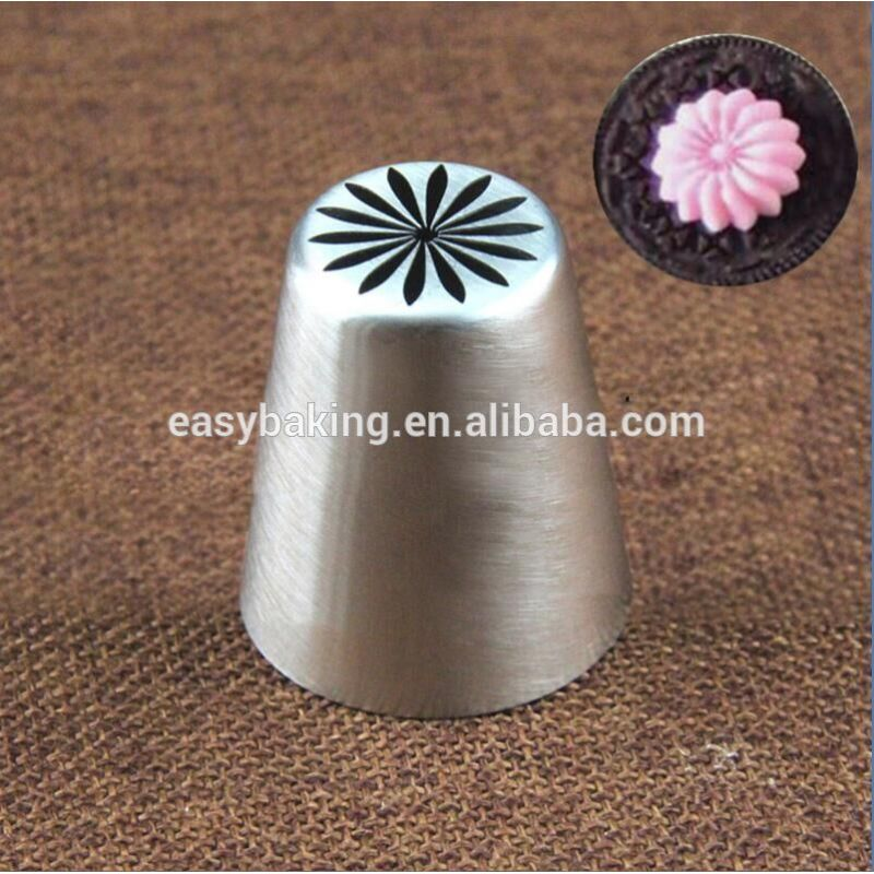 Cake decorating 12pcs/set 304 stainless steel seamless Russian piping tips