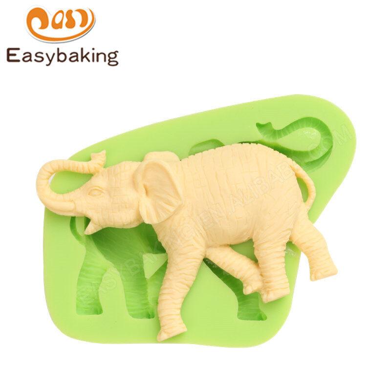 Elephant shape fondant decoration silicone mold