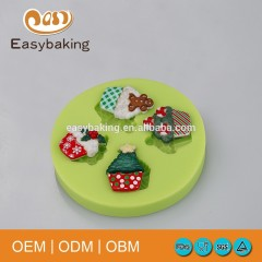 Christmas Party Cake Decoration Cupcake Shaped Silicone Mould